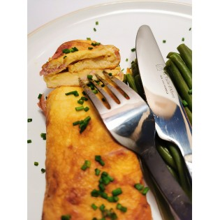 Omelette bacon fromage.