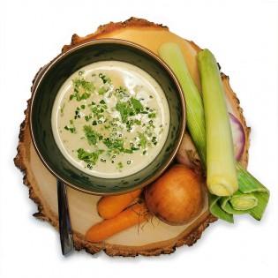 Potage légumes du potager.
