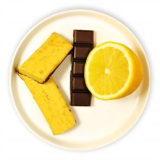 Barres tendre citron chocolat.