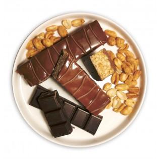 Barre chocolat arachides.