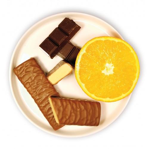 Barres tendre chocolat orange.