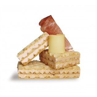 gaufres jambon fromage.