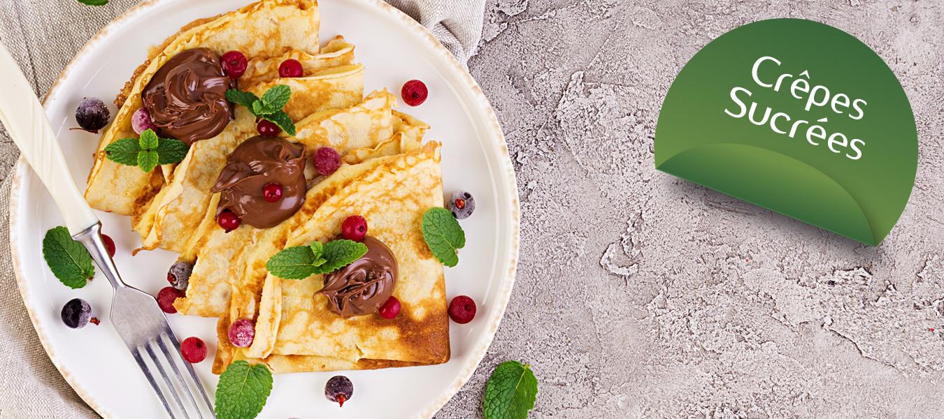 préparation pour crêpes sucrées lors de vos régimes hyperprotéinées Cétodiet