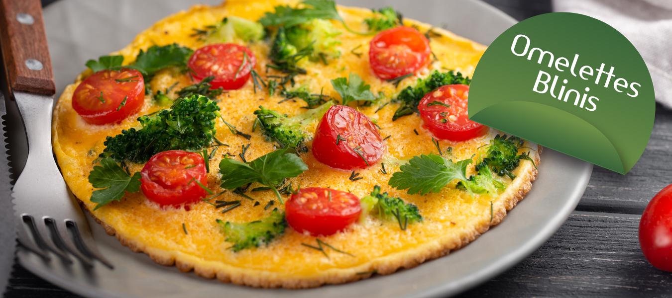préparations pour omelettes Cétodiet pour régime protéiné Cétodiet